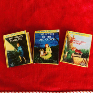 Nancy Mystery Miniature books for American Girl 18 Inch Dolls 1:3 Scale
