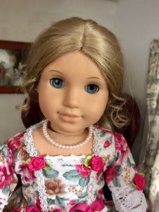 Pink Pearl Necklace for 18 inch American Girl Dolls Journey Girl Dolls