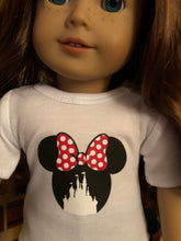 Load image into Gallery viewer, Mouse Ears Castle Doll Tshirt for American Girl Dolls