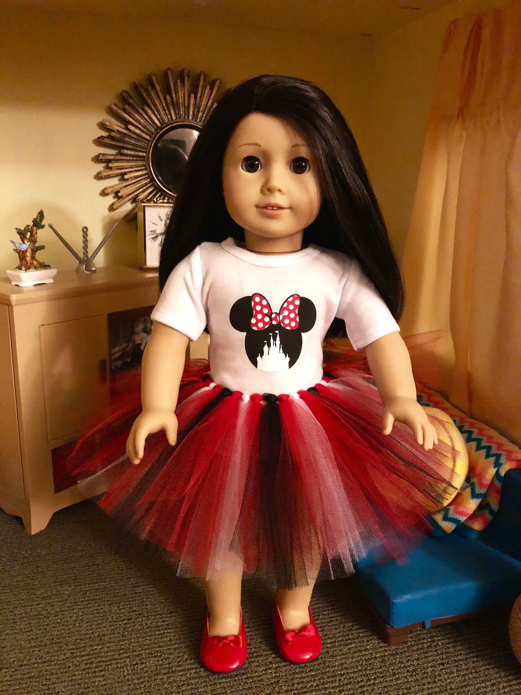 Mouse Ears Castle Tshirt & Tutu for American Girl Dolls