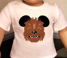 Load image into Gallery viewer, Mouse Ears Star Wars Chewbacca Doll Tshirt for American Girl Doll Logan