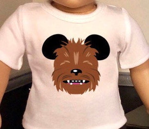 Mouse Ears Star Wars Chewbacca Doll Tshirt for American Girl Doll Logan