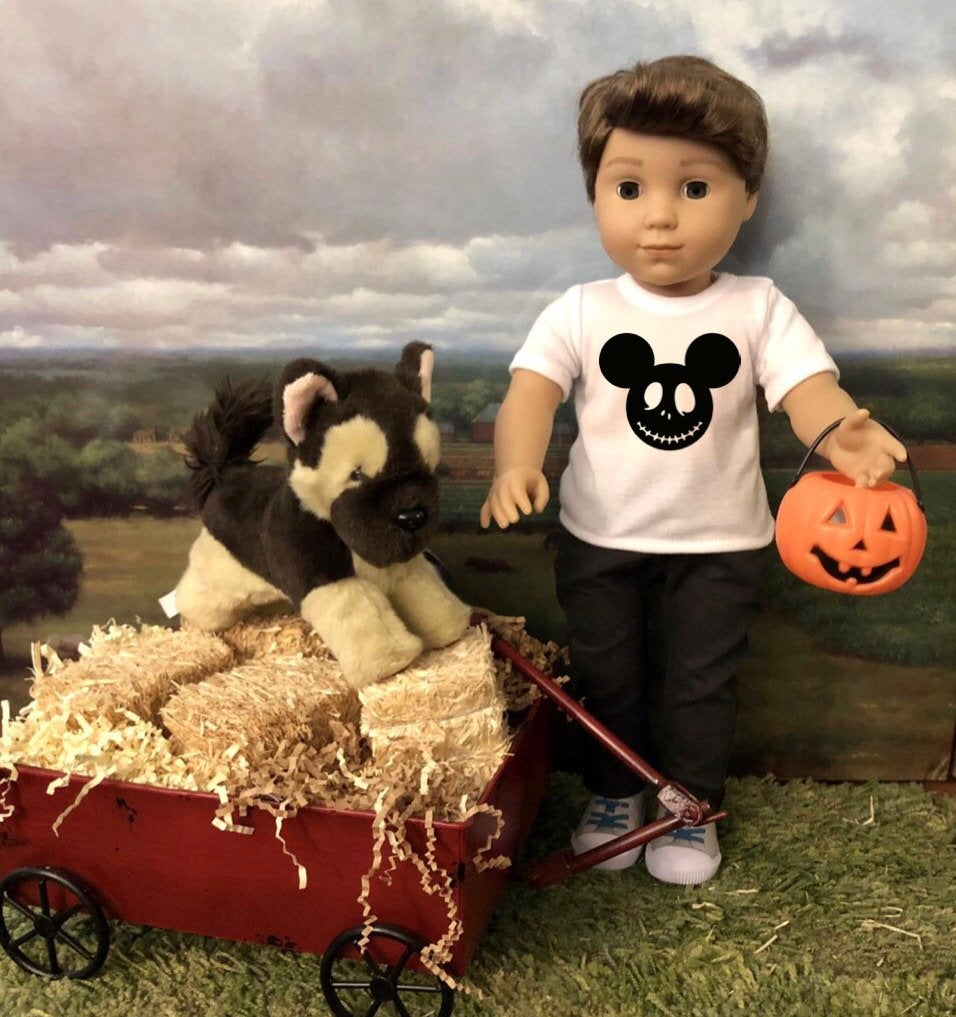 Halloween Mouse Ears Tshirt for American Girl Logan