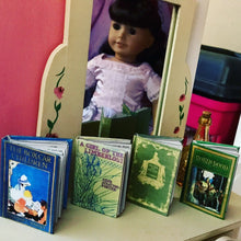 Load image into Gallery viewer, 4 Mini Classic Books for American Girl Dolls 1:3 Scale
