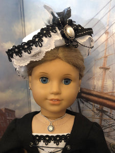 Diamond Pendant Silver Necklace for 18inch American Girl Dolls