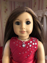 Load image into Gallery viewer, Diamond Pendant Silver Necklace for 18inch American Girl Dolls