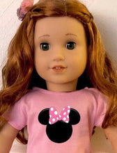 Load image into Gallery viewer, Pink Minnie Mouse Ears Tshirt & Tutu for American Girl Dolls