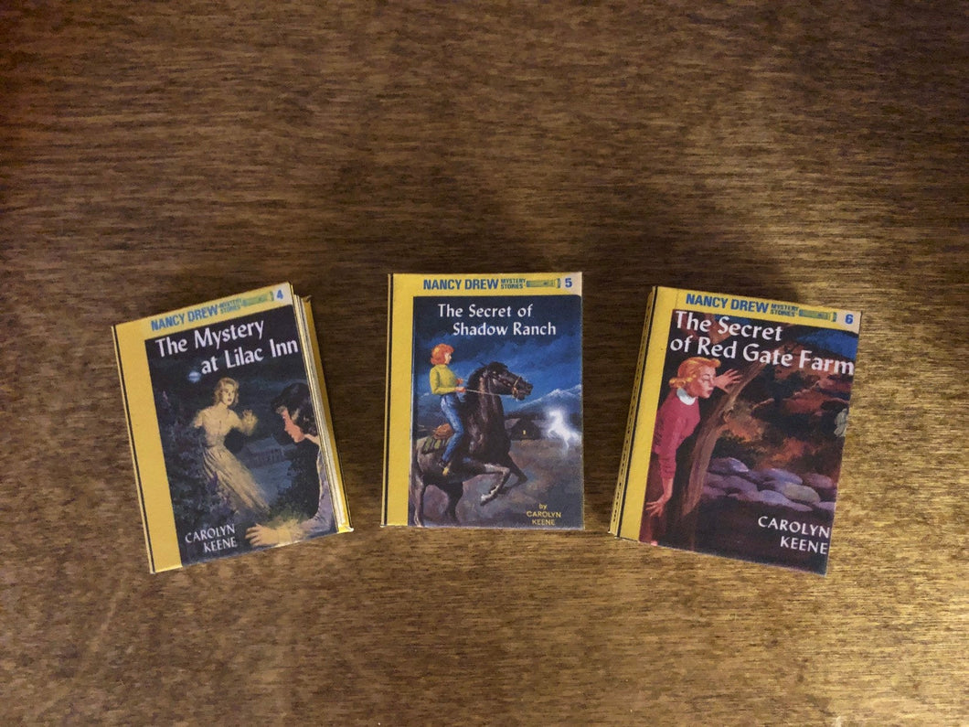 Nancy Drew Mini books 4-6 for American Girl 18