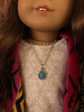 Load image into Gallery viewer, Turquoise Charm Necklace for American Girl Dolls