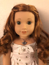 Load image into Gallery viewer, Silver Bumble Bee Necklace for American Girl Blaire Wilson Girl of the Year 2019