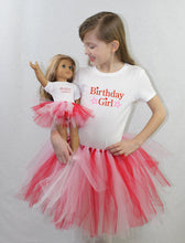 Load image into Gallery viewer, Star Birthday Girl Matching Girl & Doll Tshirt and Tutu Sets