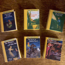 Load image into Gallery viewer, Nancy Drew Mini books set 1-6 for American Girl 18 Inch Dolls 1:3 Scale
