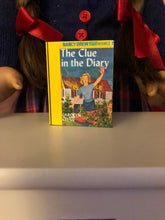 "Load image into Gallery viewer, The Clue in the Diary mini 1:3 scale book for American Girl 18"" Dolls"