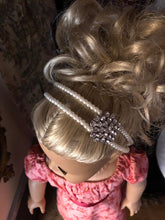 Load image into Gallery viewer, Pearl & Diamond Embellished Headband for American Girl 18 inch Dolls