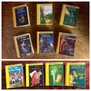 Nancy Drew Mini book set titles 1-10 for American Girl Dolls 18 Inch Dolls 1:3 Scale