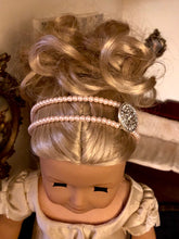 Load image into Gallery viewer, Pink Pearl Double Strand Circlet Headband for American Girl 18 inch Doll Jewelry
