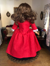 Load image into Gallery viewer, Made To Order: Outlander inspired 1770's Claire Fraser 'Drums of Autumn' Gown for American Girl Dolls