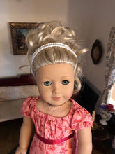 Load image into Gallery viewer, Pearl Double Strand Circlet Headband for American Girl 18 inch Dolls