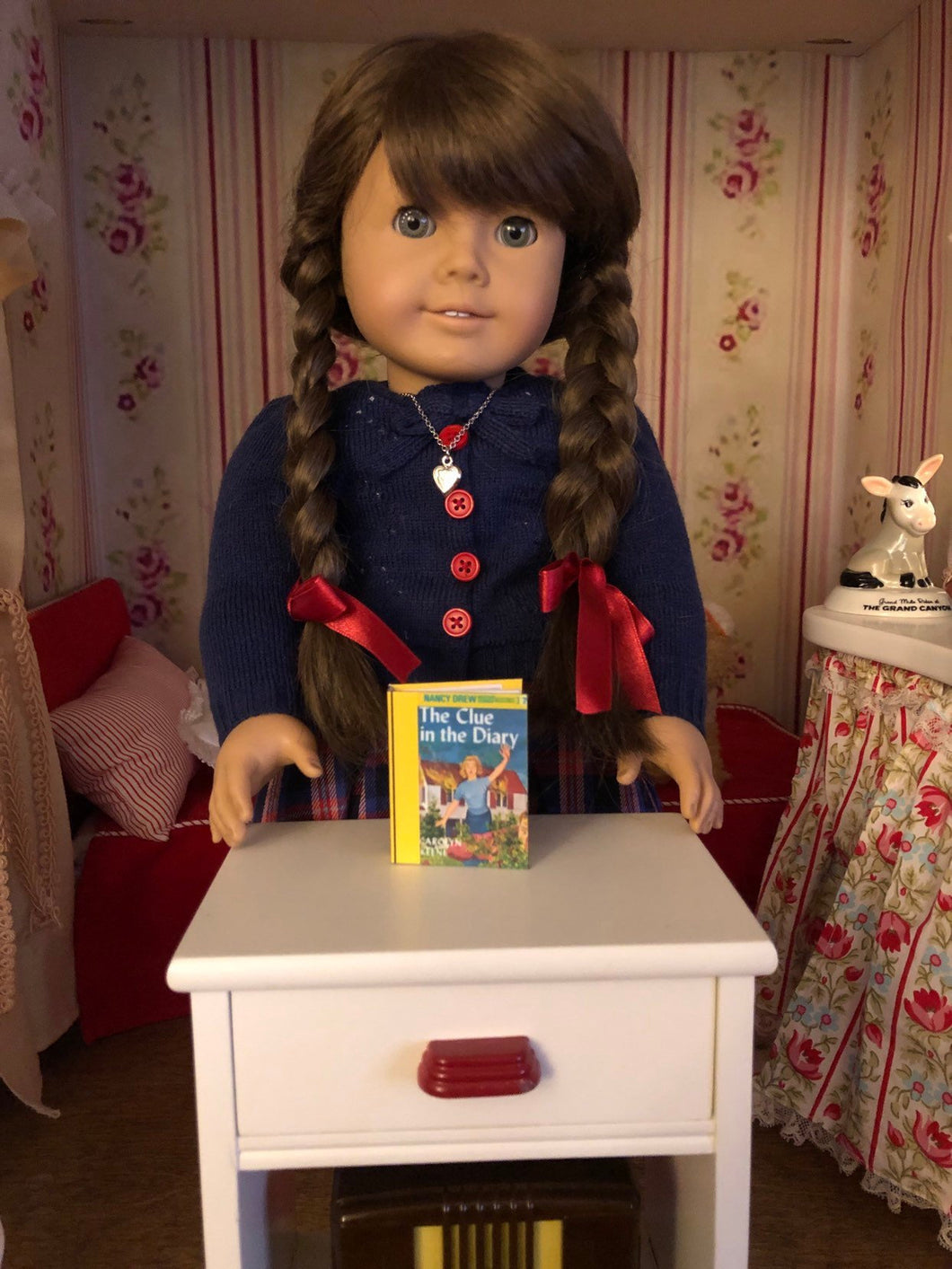The Clue in the Diary mini 1:3 scale book for American Girl 18