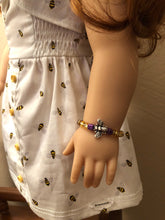 Load image into Gallery viewer, Bumble Bee Bracelet for American Girl of the Year Blaire Wilson