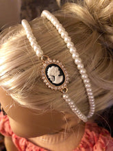 Load image into Gallery viewer, Pearl & Cameo Circlet Headband for American Girl 18 inch Dolls