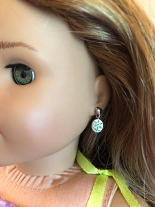 Tropical Green Flower Earring Dangles for 18 inch American Girl Doll Lea Clark Girl of the Year