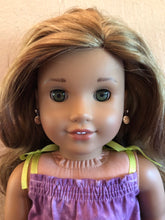 Load image into Gallery viewer, Tropical Orange Flower Earring Dangles for 18 inch American Girl Doll Lea Clark Girl of the Year