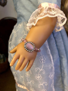 Pink & Silver Beaded Bracelet for American Girl Dolls