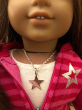 Load image into Gallery viewer, Silver Star Charm Necklace for American Girl Dolls