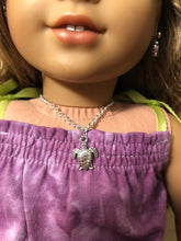Load image into Gallery viewer, Silver Turtle Necklace for 18 inch American Girl Doll Lea Clark