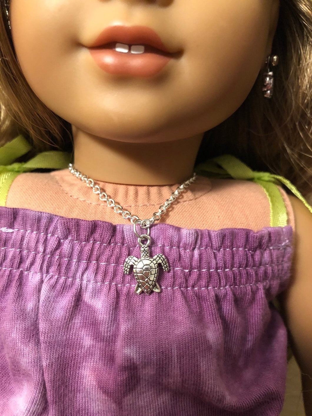Silver Turtle Necklace for 18 inch American Girl Doll Lea Clark