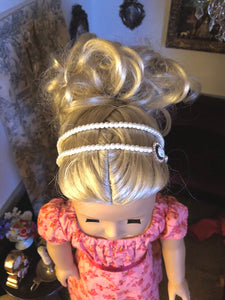 Pearl & Cameo Circlet Headband for American Girl 18 inch Dolls
