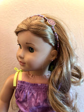 Load image into Gallery viewer, Purple Beaded Headband for American Girl 18 inch Dolls