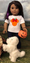 Load image into Gallery viewer, Minnie Mouse Ears Pumpkin Disney Tshirt for American Girl Dolls