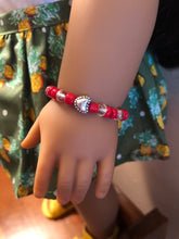 Load image into Gallery viewer, Hearts Girl & Doll Matching Bracelets for American Girl 18 inch Dolls