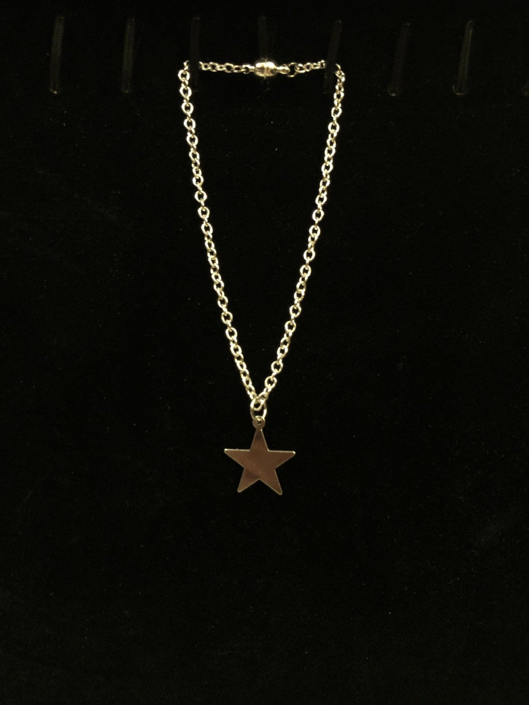 Silver Star Charm Necklace for American Girl Dolls