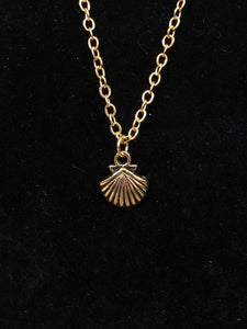 Gold Sea Shell Charm Necklace for 18 inch American Girl of the year Joss Kendrick