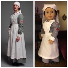 Load image into Gallery viewer, Downton Abby inspired Lady Sybil's Nurse's Uniform for American Girl Dolls (Custom Order)