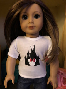 Mouse Ears Castle Tshirt for 18 Inch Dolls