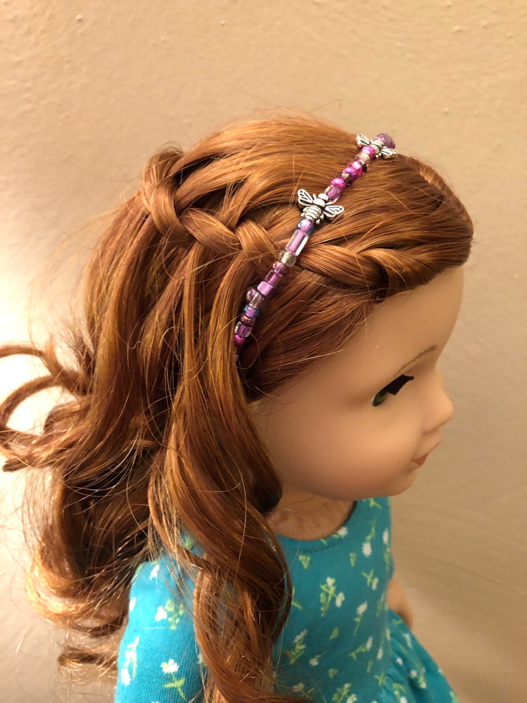 Purple Honeybee Circlet Headband for American Girl 18 inch Doll Jewelry