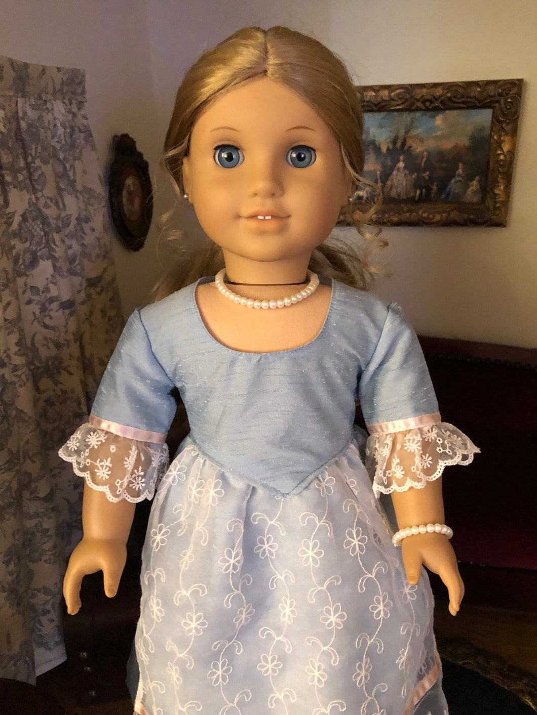 Pearl Necklace & Bracelet for 18 Inch American Girl Dolls