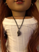 Load image into Gallery viewer, Leaf Charm Necklace for 18 inch Dolls American Girl Doll Jewelry