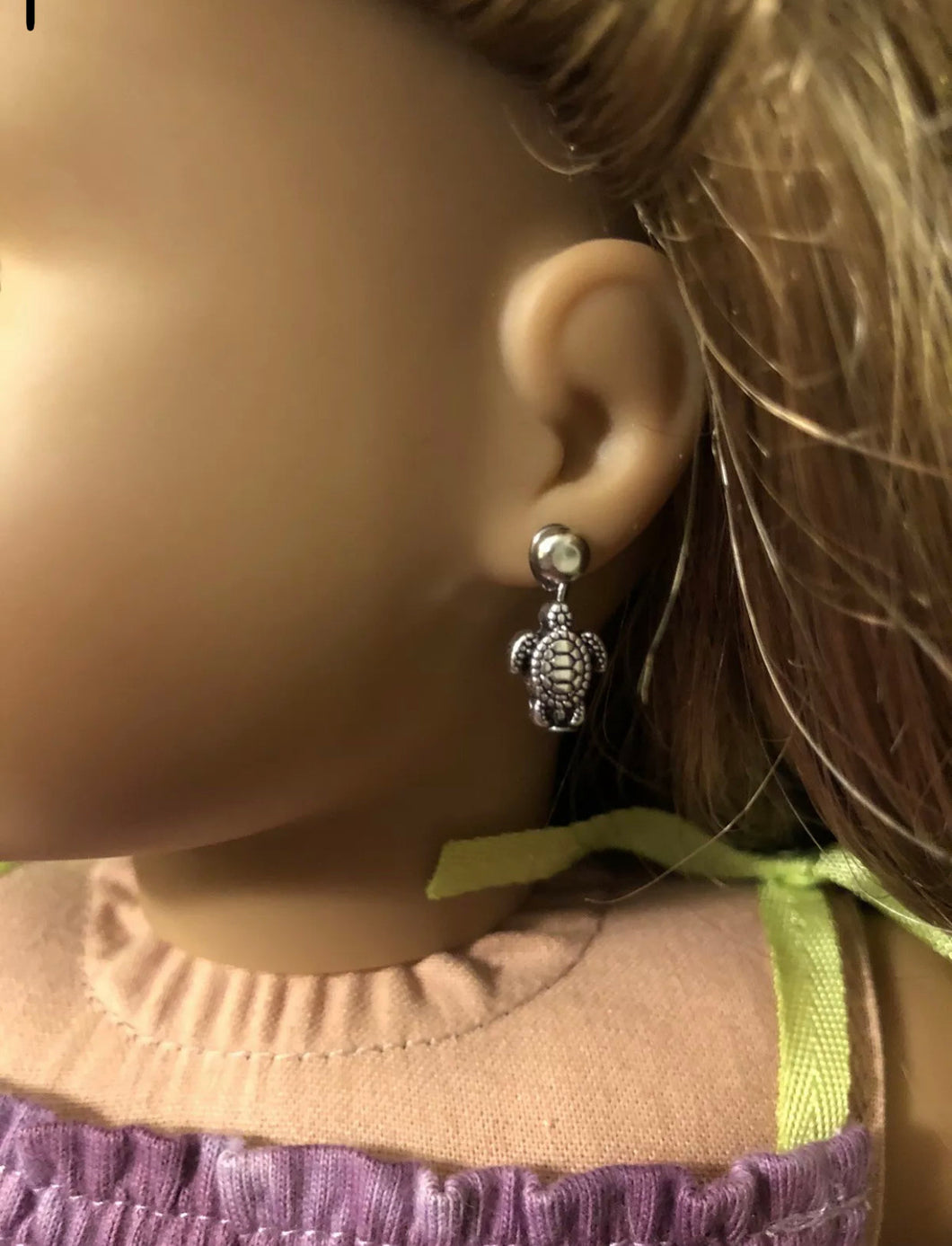 Turtle Earring Dangles for 18 inch American Girl Doll Lea Clark Girl of the Year