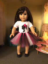 Load image into Gallery viewer, Birthday Girl Barbie Silhouette Tshirt & Tutu for 18 Inch American Girl Dolls