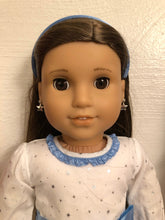 Load image into Gallery viewer, Silver Star Earring Dangles for 18 inch American Girl Dolls