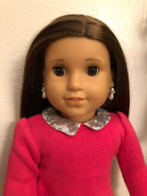 Load image into Gallery viewer, Pearl & Diamond Drop Earring Dangles for 18 inch American Girl Dolls