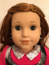 Load image into Gallery viewer, Black Bead and Diamond Earring Dangles for 18 inch American Girl Dolls