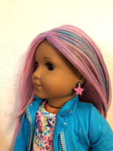 Load image into Gallery viewer, Purple Star Earring Dangles for 18 inch American Girl Dolls