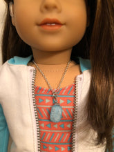 Load image into Gallery viewer, Blue Sea Glass Necklace for 18 inch American Girl Doll of the year 2020 Joss Kendrick