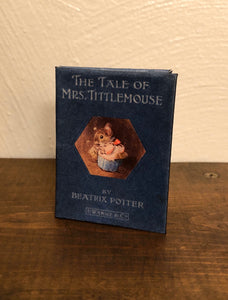 Mrs. Tittlemouse by Beatrix Potter doll sized miniature book for American Girl Dolls 1:3 scale